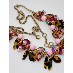 J. Crew Pink Crystal Glittery Tortoise Necklace